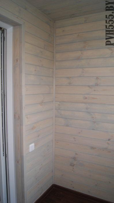 Отделка балкона штиль и покраска