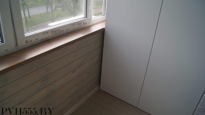 Отделка балкона штиль и декоративный камень