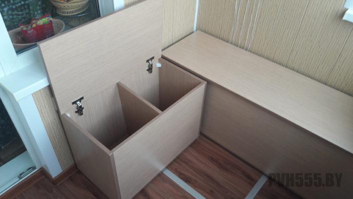 Отделка балкона и мебель на балкон