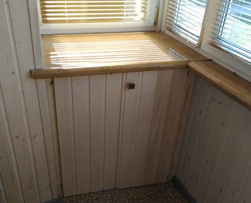 Изготовление нижних распашных шкафов на балкон