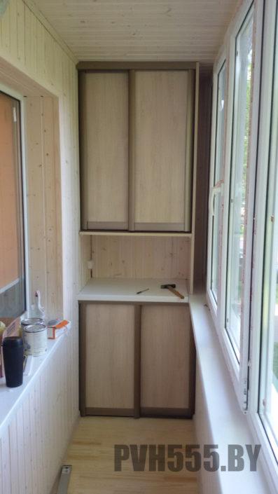 Изготовление раздвижных шкафов на балкон 15