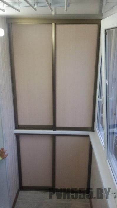 Изготовление раздвижных шкафов на балкон 18