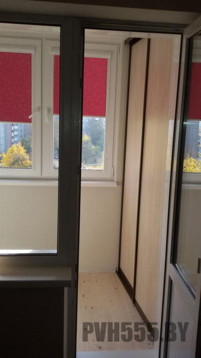 Изготовление раздвижных шкафов на балкон 5