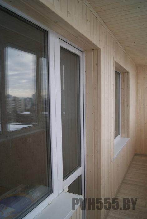 Отделка оконных откосов на балконе 2