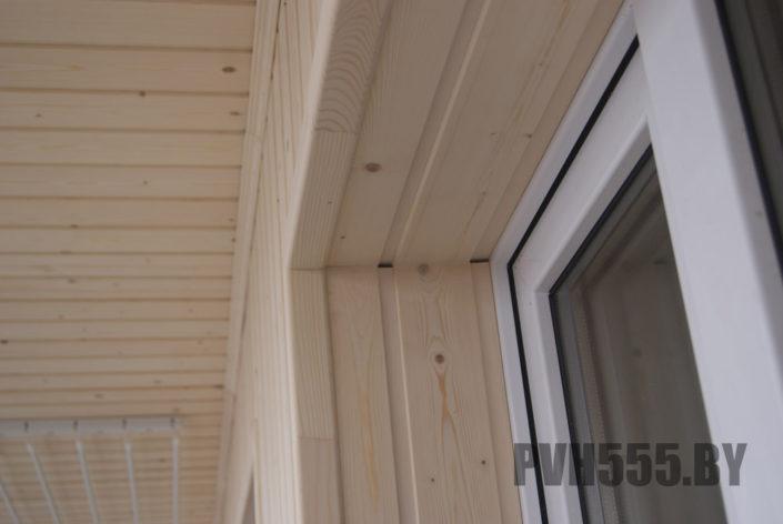 Отделка оконных откосов на балконе 3