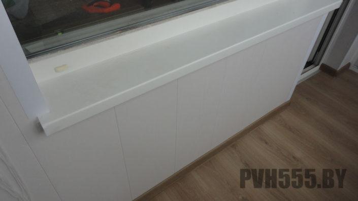 Отделка балкона ПВХ панелями 13
