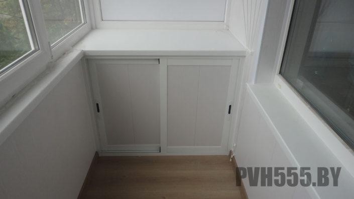 Отделка балкона ПВХ панелями 14