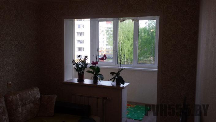 Отделка балкона ПВХ панелями 16