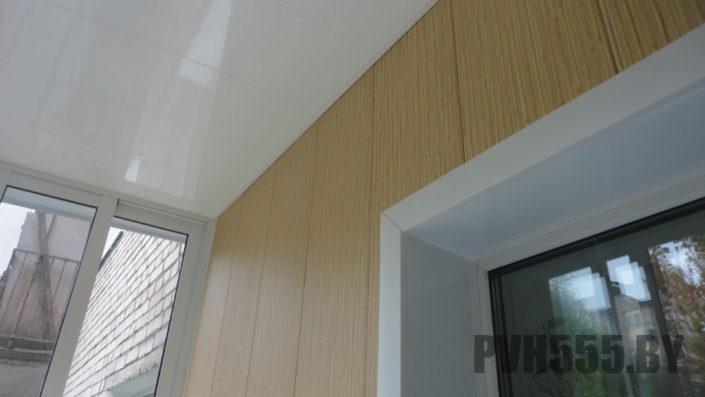 Отделка балкона ПВХ панелями 20