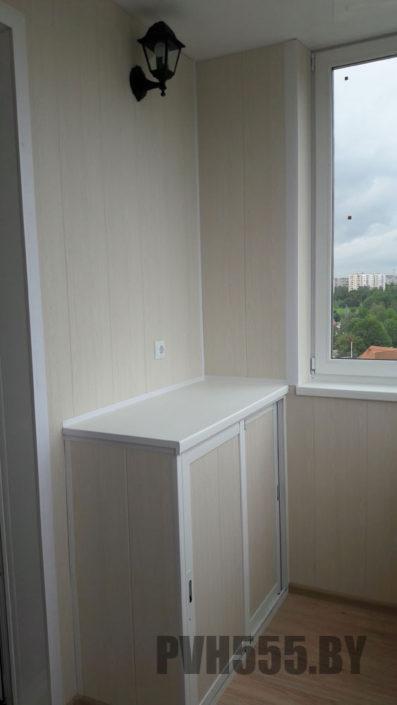 Отделка балкона ПВХ панелями 9