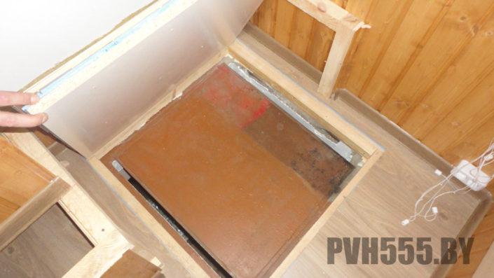 Люк на балконе 6 PVH555