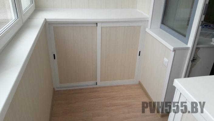 Изготовление нижних раздвижных шкафов на балкон 10