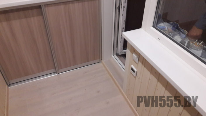Изготовление нижних раздвижных шкафов на балкон 15