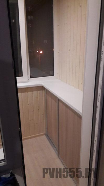Изготовление нижних раздвижных шкафов на балкон 16
