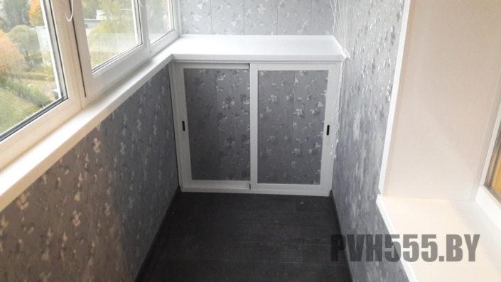 Изготовление нижних раздвижных шкафов на балкон 17