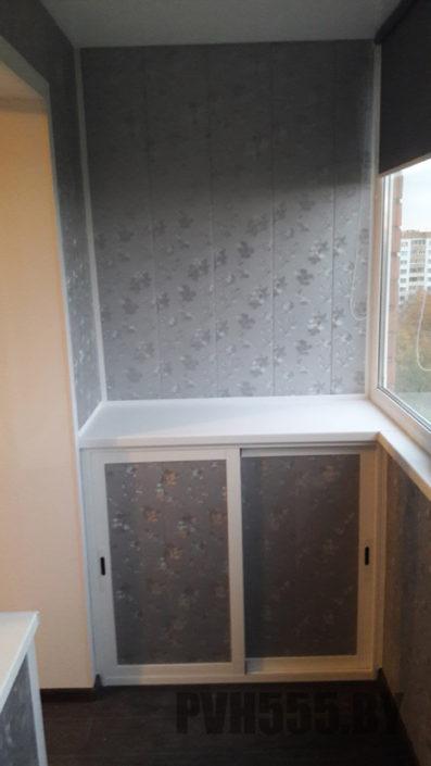 Изготовление нижних раздвижных шкафов на балкон 18