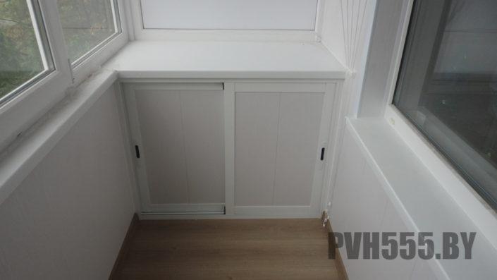 Изготовление нижних раздвижных шкафов на балкон 19