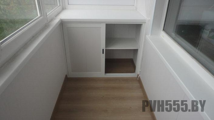 Изготовление нижних раздвижных шкафов на балкон 20