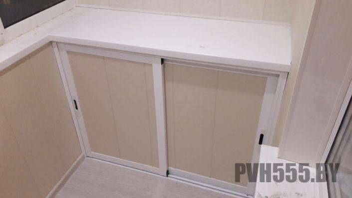 Изготовление нижних раздвижных шкафов на балкон 3