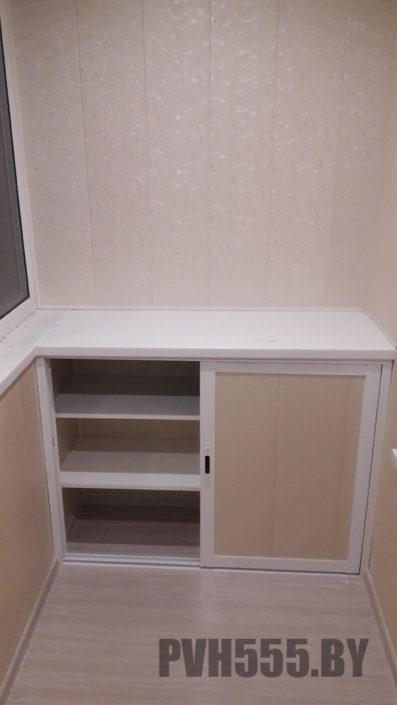 Изготовление нижних раздвижных шкафов на балкон 4