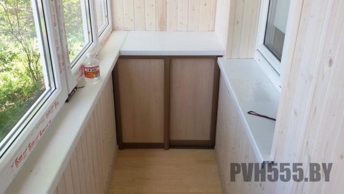Изготовление нижних раздвижных шкафов на балкон 7