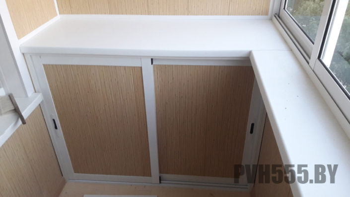 Изготовление нижних раздвижных шкафов на балкон 8