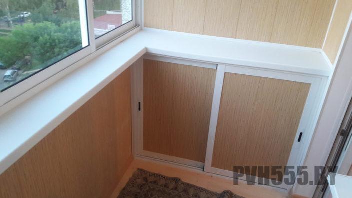 Изготовление нижних раздвижных шкафов на балкон 9