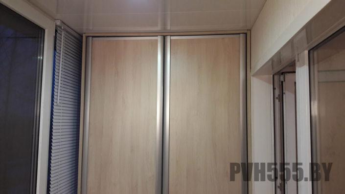 Изготовление распашных шкафов на балкон 1
