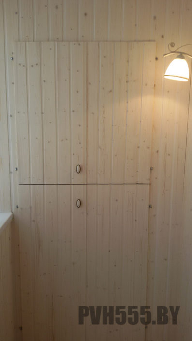 Изготовление распашных шкафов на балкон 14