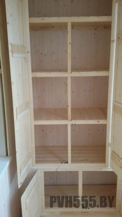 Изготовление распашных шкафов на балкон 18