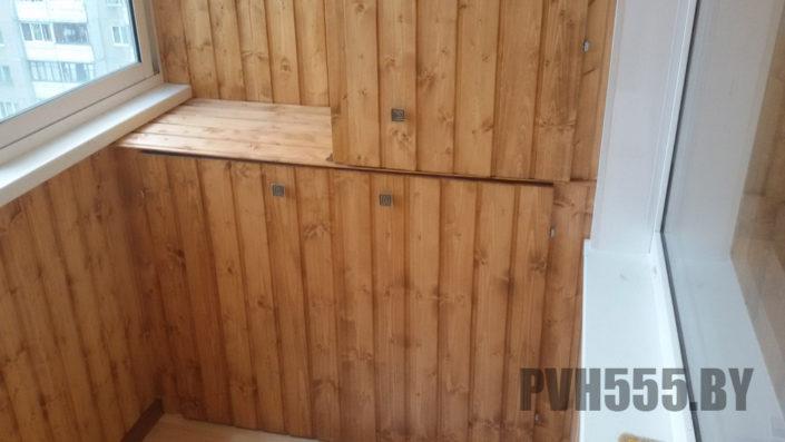 Изготовление распашных шкафов на балкон 25