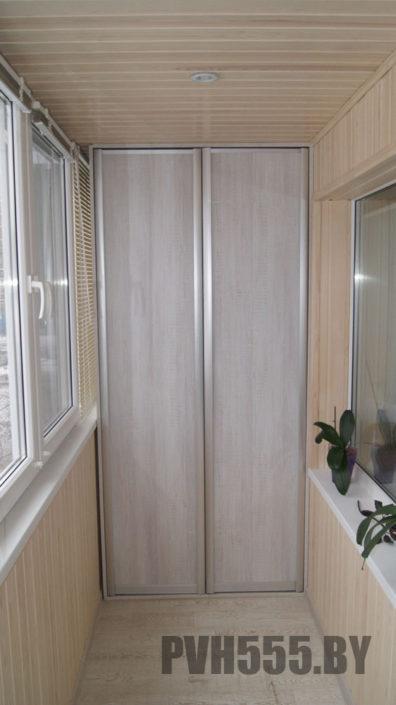Изготовление распашных шкафов для балкона в Минске
