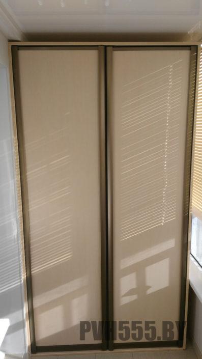 Изготовление распашных шкафов на балкон 5