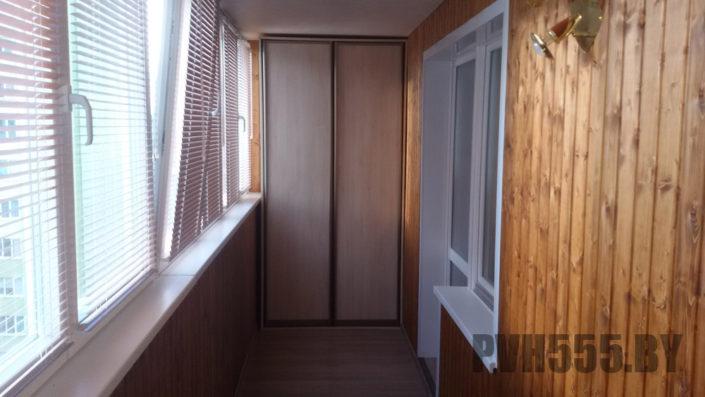 Изготовление распашных шкафов на балкон 9