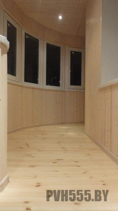 Деревянный пол на балконе 1-1