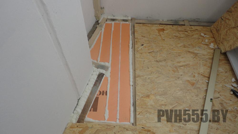 Укладка осб на пол балкона монтаж osb 18мм пола.