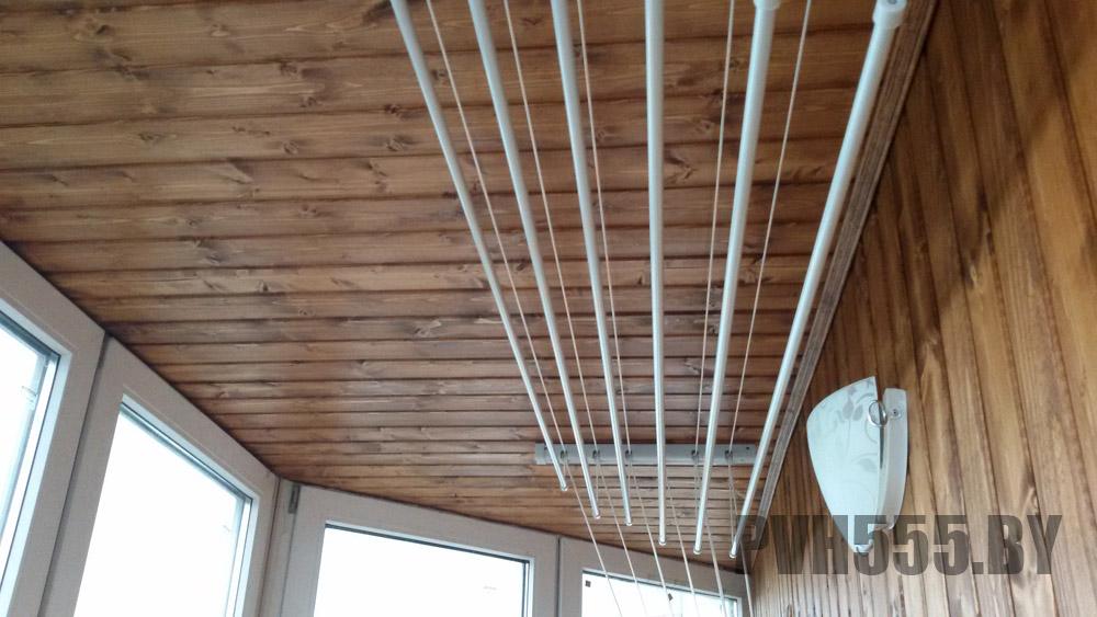 Установка потолочной сушилки на балконе монтаж сушилки для б.