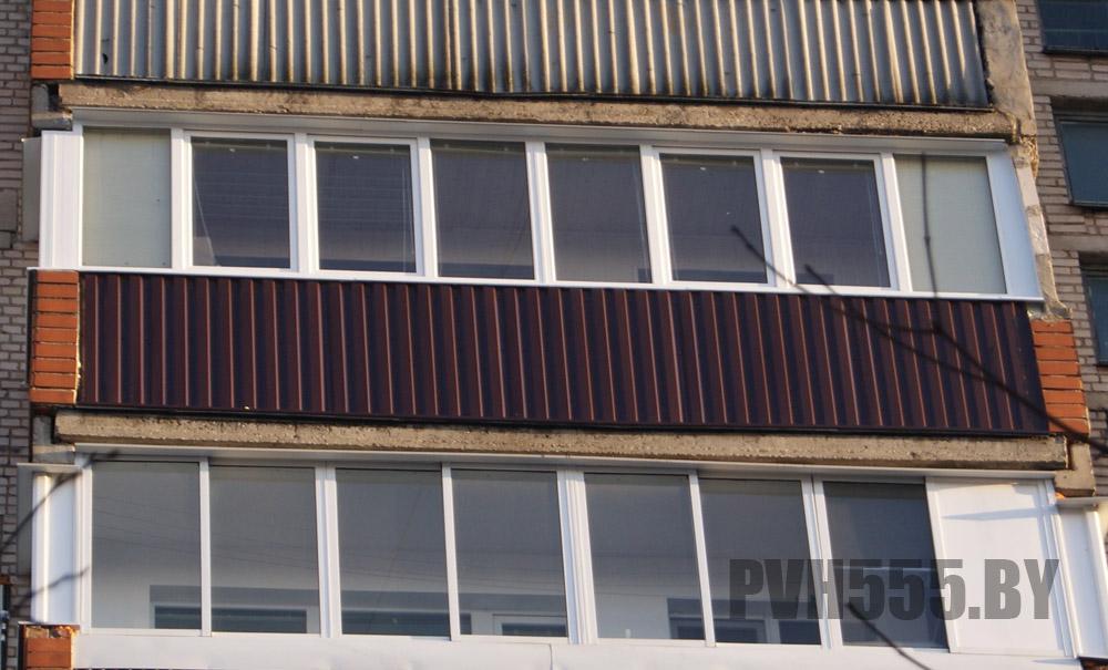 Отделка балкона профнастилом наружная отделка балконов.