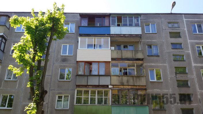Отделка балкона сайдингом 5