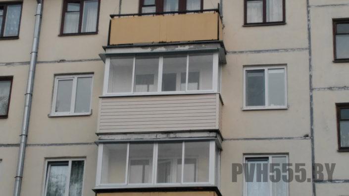 Отделка балкона сайдингом 8